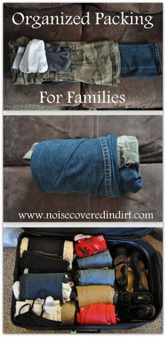 Save space when packing by rolling your kid's outfits instead of folding them.   21 Indispensable Tips And Tricks For Traveling With Kids