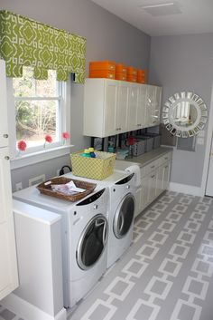 never thought about gray in the laundry room!