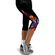 ランニングタイツ女性プリントレギンスための女性スポーツウェアベルベットレギンス3/4スポーツフィットネスパンツウォーキングズボン
