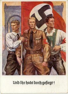 Nazi propaganda Talk about BS! Ww2 Posters, Poster Ads, Nazi Propaganda, Socialist Realism, The Third Reich, World War Two, Wwii, Vintage, Anti Semitic