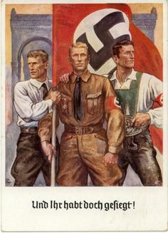 Nazi propaganda. Archetypes similar to socialist realism (Vietnam) This method of presenting archetypes for the people of a nation to aspire to is used throughout different nations across the world. They turn poor working class people into heroes. In doing so they enable the impoverished people to co-operate and be proud of their position in society.