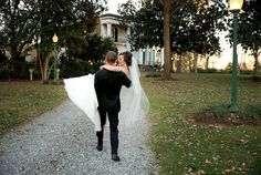 """Now this is what """"happily ever after"""" looks like. This is how all Riverwood Mansion weddings and receptions end. Click the image and contact them today for more information about their Nashville weddings. Connect with them @rvrwoodmansion. Photo credit: Dina Chmut Photography"""