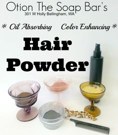 Oil Absorbing, Color Enhancing Hair Powder! Only 2 ingredients! Recipe from Otion The Soap Bar in Bellingham, WA