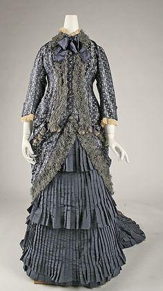 Dress Date: ca. 1880 Culture: French Medium: silk Dimensions: Length at CB (a): 13 in. (33 cm) Length at CB (b): 65 in. (165.1 cm)