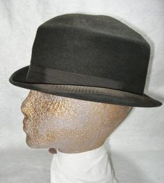 Early Flat Top Men's Derby Hat @ Vintage Touch $32.00  SOLD