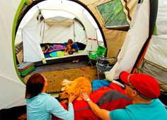 Set up both tents across from each other with doors facing, use pop up canopy or configure your own DIY canopy from a tarp over the two doorways creating the ultimate tent camping space! <3 Love this!