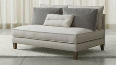 Armless loveseat from Crate & Barrel