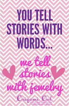 """""""You Tell Stories With Words...We Tell Stories With Jewelry!""""  brewenner.origamiowl.com breanna.kayy@gmail.com"""