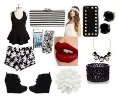 """""""black and white Friday"""" by kaylahtoocute4u ❤ liked on Polyvore"""