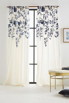 Anthropologie Embroidered Isa Curtain