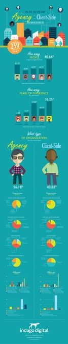 Create an Info-graphic for Digital Marketeers - Agency v Client-side by VandenHeuvel