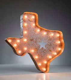 Vintage Marquee Lights  Texas by VintageMarqueeLights on Etsy, $229.00