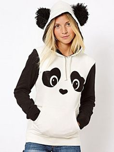 Cute Panda Cotton Hoody Hoodies from stylishplus.com