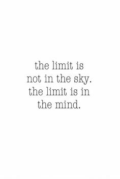 QOTD 30'14 :: The limit is not in the sky