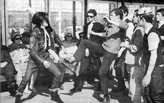 Mods and Rockers defined clannish separatism in the 60's - I would have been a rocker, I think...