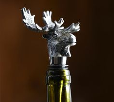 Moose Bottle Stopper   Pottery Barn cheap anniversary gift for mom and dad!