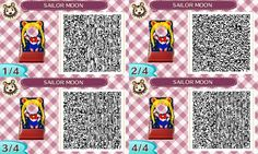 Animal Crossing New Leaf QR Code Database: Sailor Moon Cut-Out Board