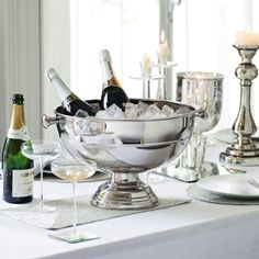 Buy Gifts > Wedding & Celebrations > Large Silver Plated Champagne Trug from The White Company