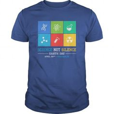 Awesome Tee  Science Not Silence  March For Science Chicago IL  T shirts
