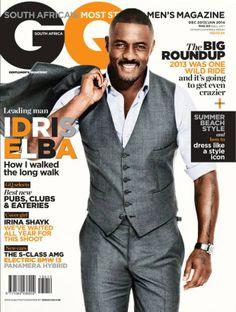 Idris Elba en portada de GQ Sudáfrica Diciembre/Enero 2014 | Male Fashion Trends