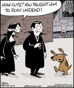Playing Undead - Sunday Fun Day - Sunday October 2013 - {Faith Hope Love & Luck Survive Despite a Whiskered Accomplice} - Funny Halloween Memes, Halloween Cartoons, Halloween Fun, Halloween Witches, Halloween Prints, Vintage Halloween, Halloween Decorations, Funny Cartoons, Funny Comics