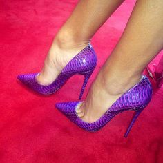 Dreaming Purple Stiletto Heels