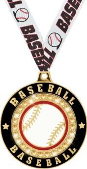 Our #Baseball Bling #Medals Lets You Shine Above The Rest. Great For All Baseball Participants! http://www.crownawards.com/StoreFront/CM52BBRG.ALL.Medals-Dogtags.2%22_Baseball_Bling_Medal.prod