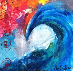 """Reef""- a wave painting by Adam Brett"
