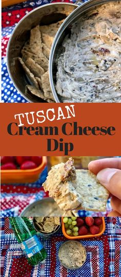 All Hands In on Appetizer Night when you create this  Creamy Tuscan Cream Cheese Dip with marinated artichokes, sun dried tomatoes, Kalamata olives, and Feta cheese - Serve with Crunchmaster crackers #ad #NewBeginnings