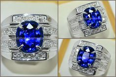 Natural No Heat Royal Blue SAFIR Crystal Bersih - SPC 195