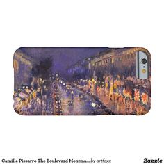 Camille Pissarro The Boulevard Montmartre At Night Barely There iPhone 6 Case
