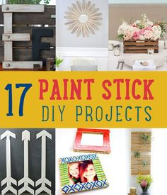 17 Paint Stick DIY Projects | https://diyprojects.com/paint-stick-diy-projects/