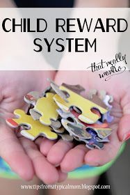 Mom Blog - Tips from a Typical Mom: Child Reward System using Puzzle Pieces