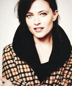 Lara Pulver. Everybody on sherlock must have amazing cheekbones or else they lose a job. <-- lol
