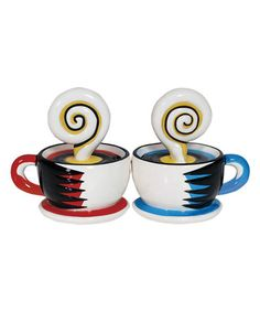 Loving this Coffee for Two Salt & Pepper Shakers on #zulily! #zulilyfinds