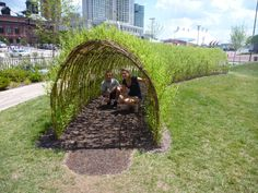 Children's Garden Willow Tunnel. Pierce's Park in Baltimore, Maryland.