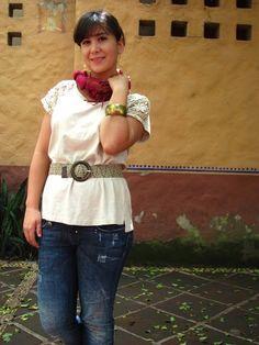 Coffee Break: COZY SUNDAY LOOK earth colors pashmina salsa jeans accesories