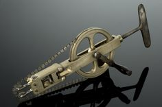 Antique Skull Saw for craniotomy. Great site http://www.healthfiend.com/orthopedic-surgery-antique-medical-instruments/