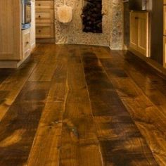 This is the kind of floors I want in my house!  Tuscan Kitchen Wide Plank Flooring