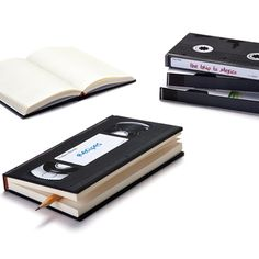 Vhs notebook by monkey business. retro notebooks to record your thoughts, travel notes, recipes etc. 260 pages, available in ruled or plain. Writing Notebook, Lined Notebook, Notebook Covers, Journal Covers, Retro Videos, Idee Diy, Monkey Business, Organize Your Life, Book Binding