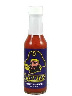ECU Pirates Hot Sauce is officially licensed by East Carolina University. This classic Louisiana-style cayenne pepper sauce makes a great gift, and is perfect for tailgating. Buy on sale for only $6.45 here: http://www.carolinasauces.com/Eastern_Carolina_p/1834ec.htm