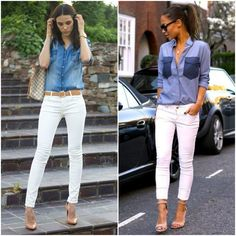 """O jeans nunca sai de moda, e a cada temporada se destaca nas produções. A   camisa jeans é peça-coringa no guarda-roupa feminino e pode compor desde   looks esportivos, até os casuais.    Atualmente, muitas empresas deixaram o """"dress code"""" de lado às   sextas-feiras, e permitem que os funcionários usem roupas mais despojadas e   confortáveis,o famoso """"casual friday"""".    A camisa é uma ótima alternativa, apesar de ser uma peça informal, ela traz   um pouco de formalidade ao ser usada com os…"""