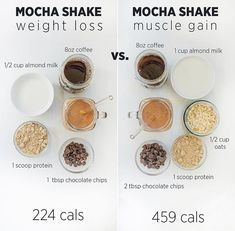 Weight loss vs muscle gain protein shake ideas Swipe to see 2 more Whi Weight loss vs muscle gain protein shake ideas Swipe to see 2 more Whi Healthy Detox, Healthy Smoothies, Healthy Drinks, Healthy Snacks, Healthy Recipes, Fruit Smoothies, Healthy Weight, Homemade Smoothies, Healthy Breakfasts