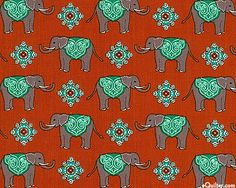 Decorated elephants parade around in this wonderful piece from Benartex. At eQuilter.com