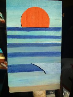 Sun and waves. Recycled wood.