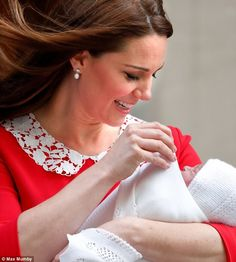 Kate was seen looking down at her baby several times during the photocall as she was seemi... #katemiddleton