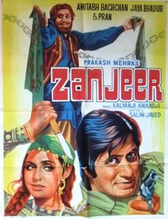"Zanjeer (1973). This Amitabh Bachchan, Jaya Bhadhuri and Pran starer, is considered a path breaking film and Amitabh came to be called ""The Angry Young Man"". This movie was directed by Prakash Mehra with whom Amitabh went on to make 6 more super hit films. The script for this movie was by Salim Javed. Music by Kalyanji-Anandji had songs like ""Bana Ke Kyon Bigada Re"", ""Chakku Chhuriyan Tej Kara Lo"", ""Deewane Hai Deewanon Ko"" and ""Yari Hai Imaan Mera""."