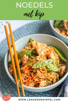 Noedels met kip en peultjes – In 30 min. – Lekker en Simpel Noodles with chicken and snow peas – On the table in 30 minutes! – Tasty and Simple Food L, Good Food, Yummy Food, Tasty, Easy Healthy Recipes, Quick Easy Meals, Asian Recipes, Ethnic Recipes, Low Carb Brasil