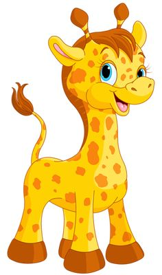 Cute Giraffe Cartoon PNG Clipart Image