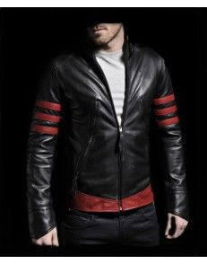 Black X-Mens leather jacket available in hot price at www.styloleather.com